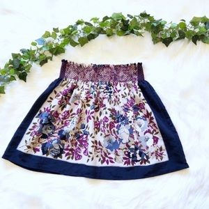 Urban Outfitters Skirt Blue Purple Floral Mini